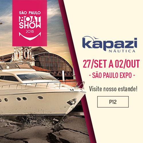 Kapazi Náutica estará presente no São Paulo Boat Show2018